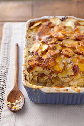 Three-Cheese Potato Gratin — Jamie and Bobby Deen — Recipes, Blogs, Podcast and Videos