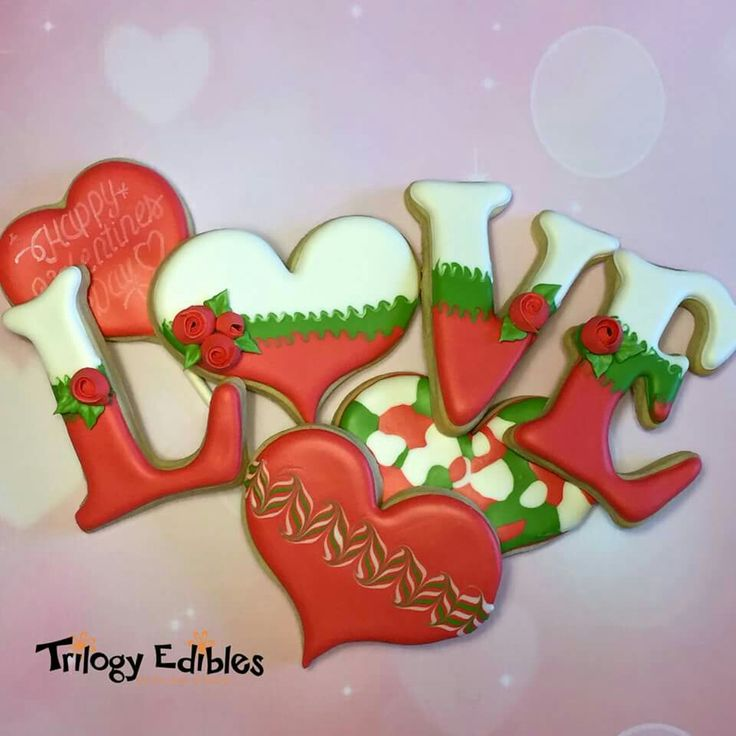 """Trilogy Edibles:  """"LOVE"""" and hearts for Valentine's day."""