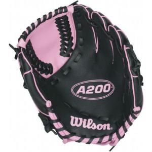 Wilson A200 A0200TBGIRL 10 inch T-Ball Glove 10 inch T-Ball pattern Designed for youth play Victory Web