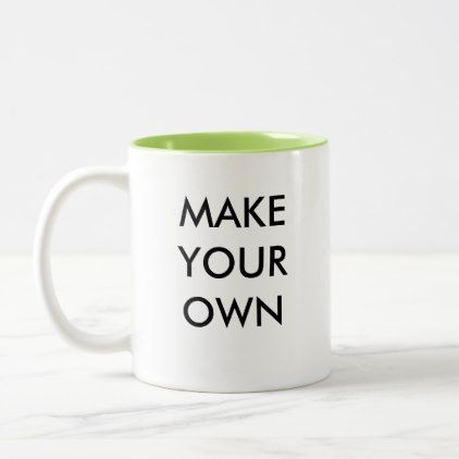 Make Your Own Custom Personalized Two-Tone Mug - create your own gifts personalize cyo custom