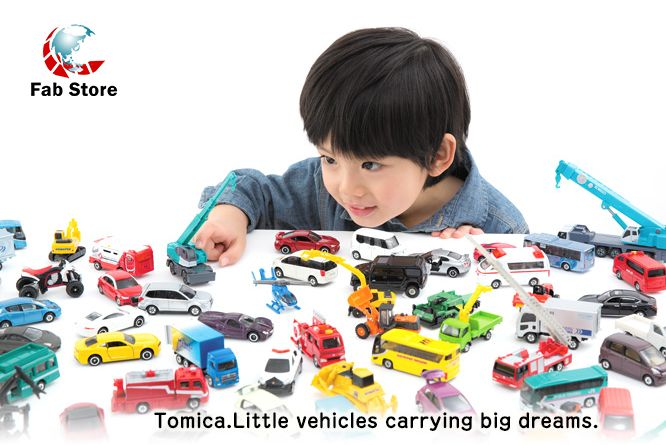 Tomica Car toys - Little vehicles carrying big dreams. The perfect toys for your little dreamers.. These toys comes with Diecast bodies painted using the same baked enamel finish used on real automobiles. Available at Fab Store Gift & Gadgets store in Spinneys The pearl Qatar, Madinat Centrale.