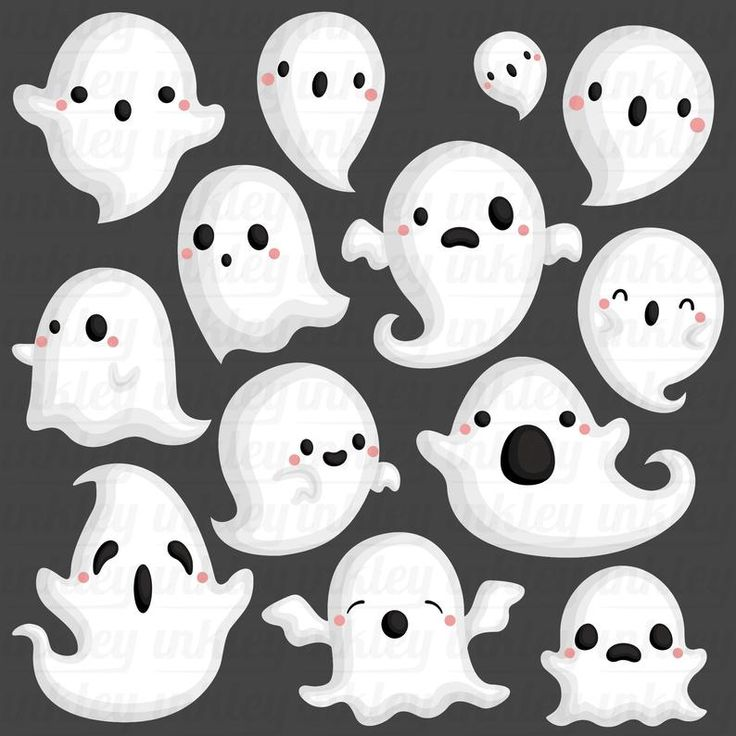 Halloween Ghost Clipart Cute Ghost Clip Art Holiday