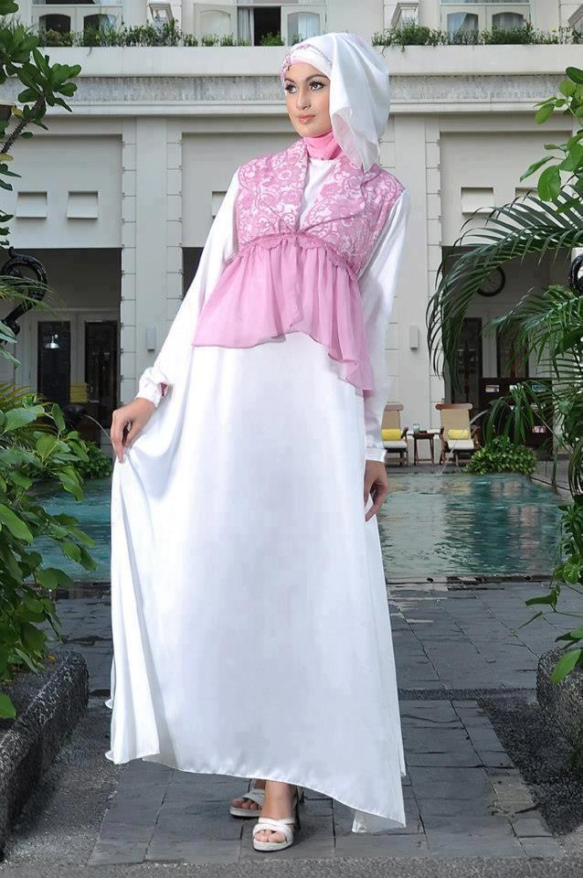 Gaun-Gamis-Pesta-Pink-Putih.jpg (638×960)