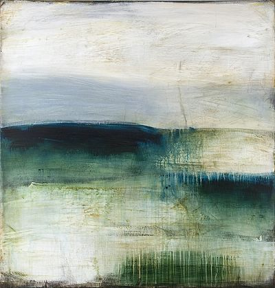 Shawn Dulaney,   Green Dawn Clarity, 2012  acrylic on linen over panel  44 x 42 inches