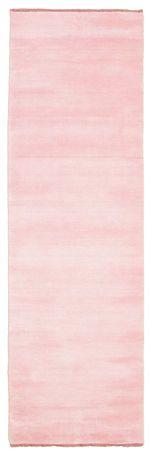 Handloom fringes - Roze tapijt 80x250