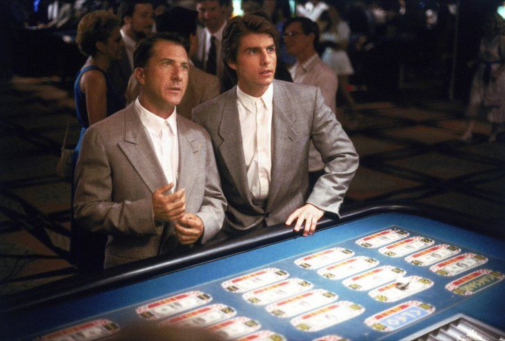 Pin for Later: 38 Pop-Culture Halloween Costumes For Brothers Raymond and Charlie Babbitt From Rain Man  What to wear: Matching gray suits with white shirts buttoned up all the way. How to act: Ask people if they'd care for a game of cards.