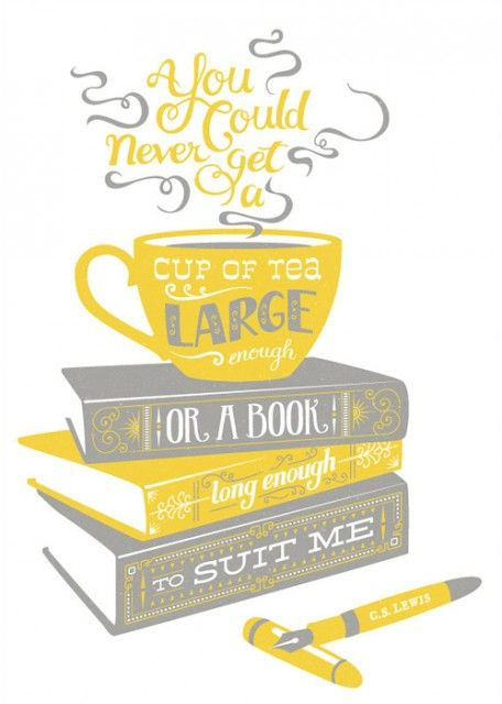 C.S. LewisTeas Time, Quotes, Cups Of Coffe, Cslewis, Book Long, Cups Of Teas, Cs Lewis, Prints, Design