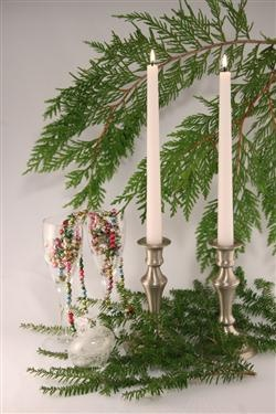 Hand Poured White Beeswax Tapered Candles for Christmas