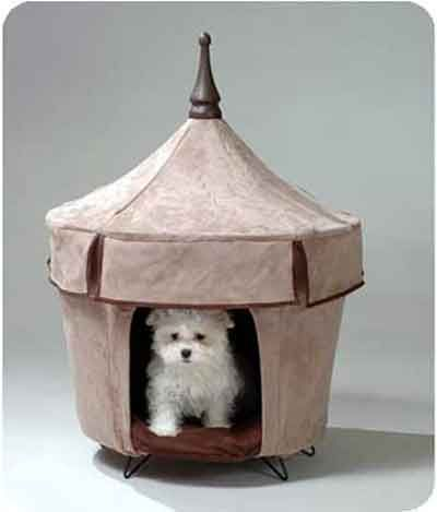 Micro Suede Pet Bed/ Tent/ House Light Brown
