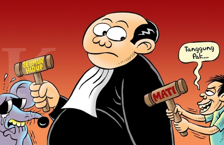 Kartun Benny, Kontan, 07.07.2014: Vonis Untuk Koruptor