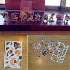この間あるお食事処に行ったらワンピースの3Dカード機があったので旦那がもってる100円あるだけ使って9枚出し 組み立てていきましたが これがなかなか難しい ワンピースのサイトを見ながら組み立てて完成したのは そのままお店に飾りました笑 もったいない笑  #ワンピース #3D カード  tags[熊本県]