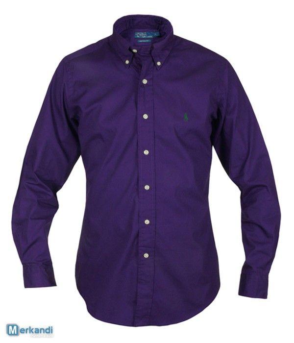 RALPH LAUREN CAMICIA VIOLA UOMO #86665 | Abbigliamento uomo | merkandi.it