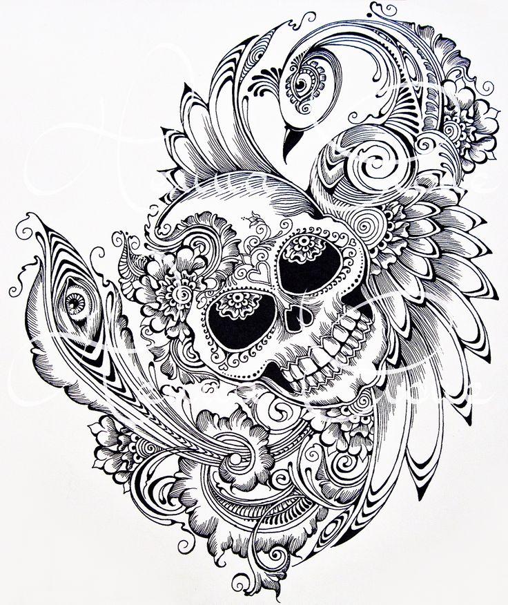 27 best Henna Skull Tattoos images on Pinterest | Henna tattoos ...
