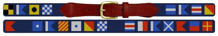 Maritime Signal Flag Needlepoint Custom Belt | NeedlePaint