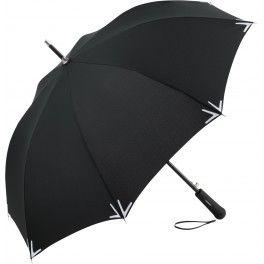 Parapluie publicitaire avec bande réfléchissante