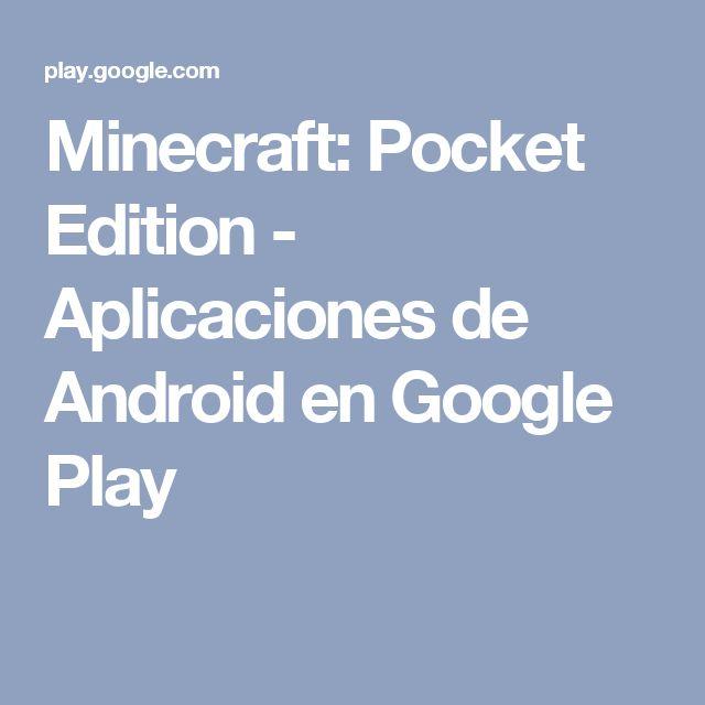 Minecraft: Pocket Edition - Aplicaciones de Android en Google Play