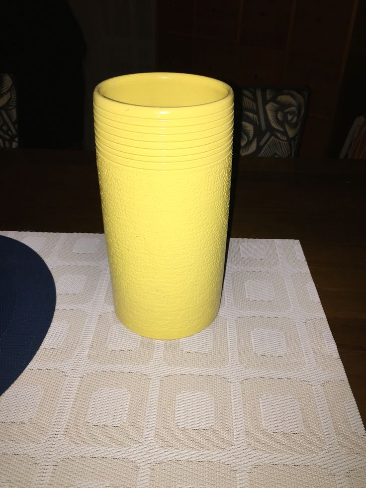 The yellow vase - which became a vase