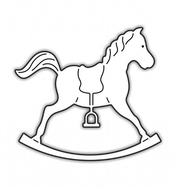 12 best rocking horse to emborder images on Pinterest