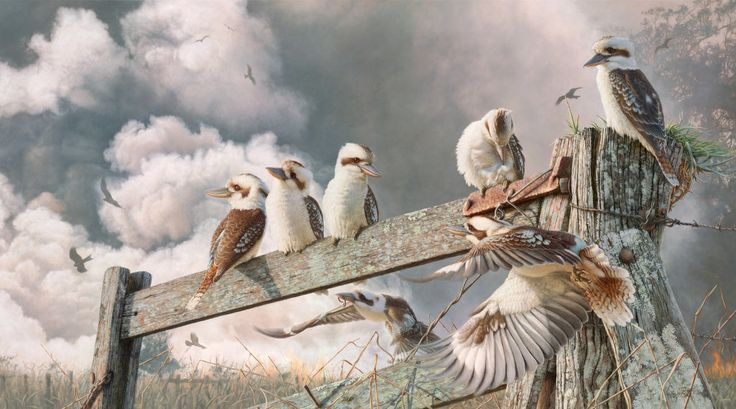 "Landsborough Galleries- Greg Postle - Australian - ""Field Day"""
