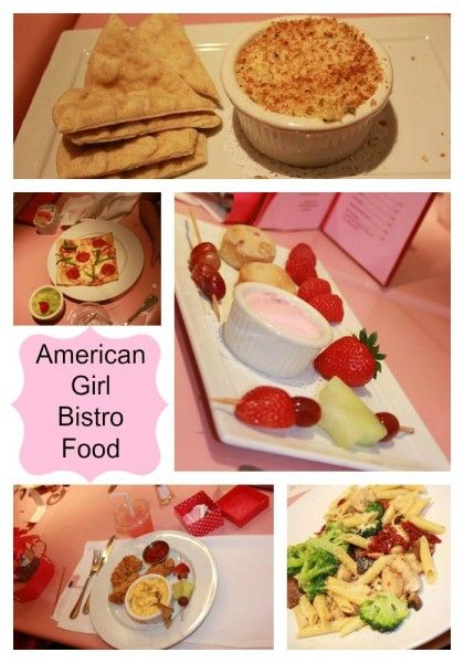 food at american girl bistro party