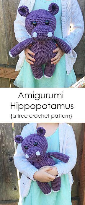 Hipopótamo de Amigurumi: un patrón de ganchillo gratis