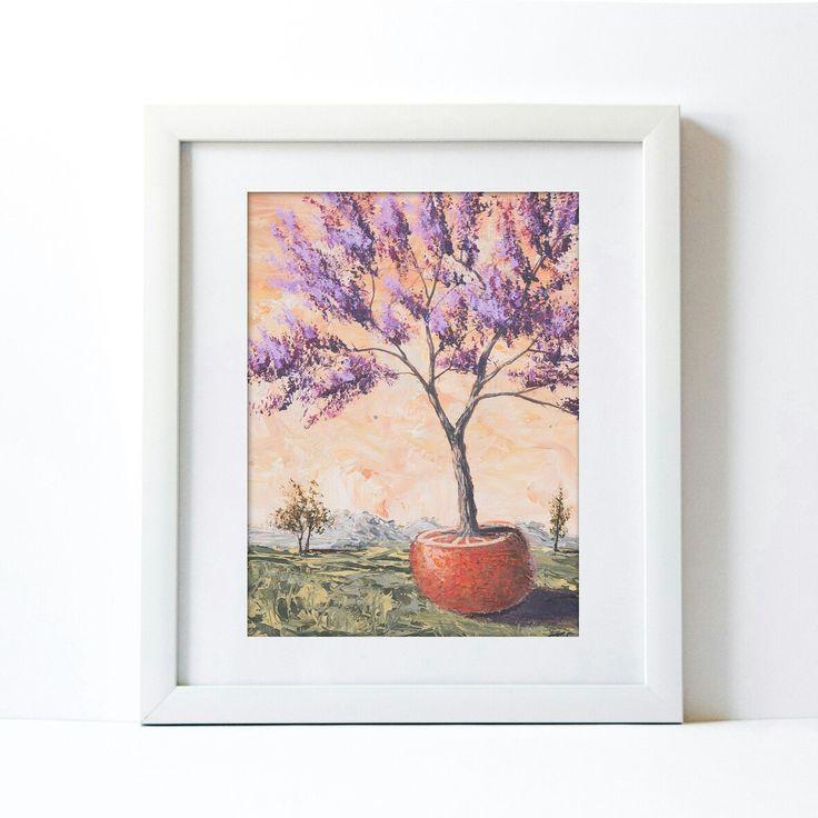 Life of Orange  Original fine art Painting. Surrealism