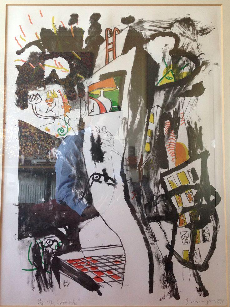 La Tormenta. Litografía. Samy Benmayor. 1994.