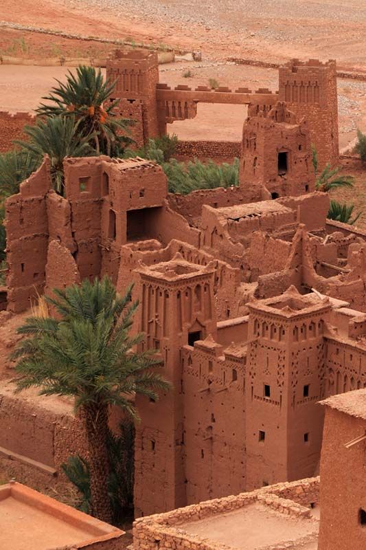 Ait Ben Haddou Medieval Kasbah near Marrakech, Morocco for luxury hotels in Marrakech visit www.mediteranique.com/hotels-morocco/marrakech/
