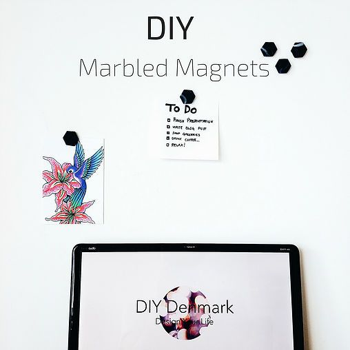 Clay Marbled Magnets | DIY Denmark | Design Your Life