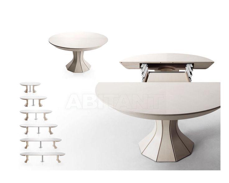 Стол обеденный - Bauline Srl - OPERA 310 - на центральной опоре, без выдвижных ящиков, раскладной, для гостиной, из дерева, на деревянных ножках, с деревянной столешницей, с круглой столешницей, для