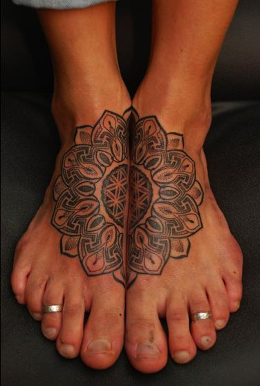 gross man feet but cool placement and tattoo