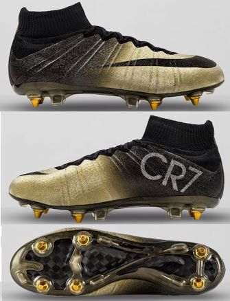 Nike mercurial superfly CR7 rare gold.