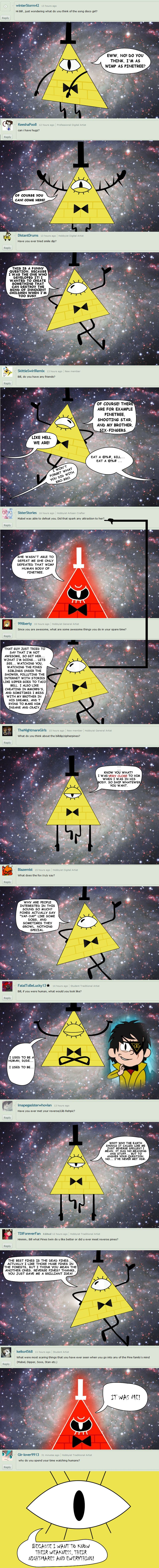 Ask Bill Cipher 3: Answer em' all by rikoudu.deviantart.com on @DeviantArt