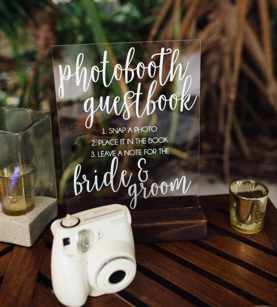 Photo Guest Book Sign Instant Photo Scrapbook Sign Photo Booth Scrapbook Sign Acrylic Scrapbook Sign Acrylic Sign Scrapbook Sign