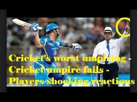 Cricket's worst umpiring - Cricket umpire fails - Players shocking react...