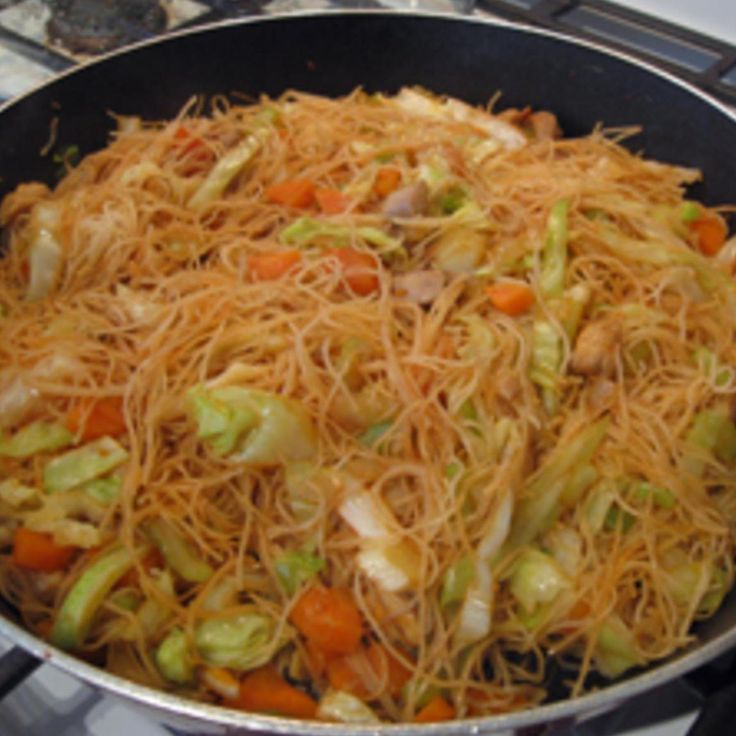 Pancit has been always an island-family favorite, and usually prepared for family gatherings, parties, pot-luck and almost served at any special event. This dish is great with a dash of lemon or lime squeezed over the noodles. Great also when served over white rice, or is a meal by itself! Your option! Enjoy!