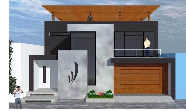 FACHADA casa 1 piso con terraza - Buscar con Google