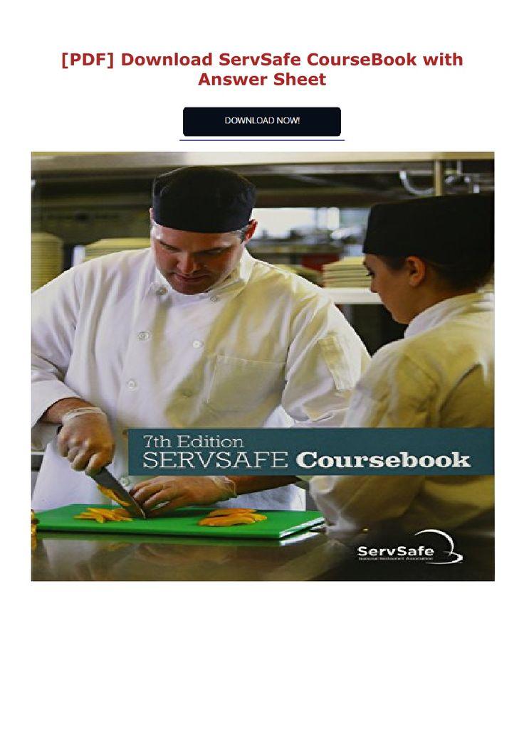 PDF download ServSafe CourseBook with Answer Sheet #ebook ...