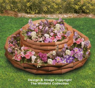 Landscape Timber Round Planter Plans This would make a great strawberry planter!!