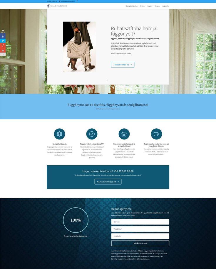 függönymosás.hu weboldal - Bitmami - weboldal készítés