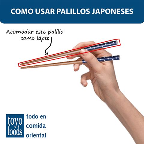 Aprende a utilizar los palillos en tus comidas Japonesas.