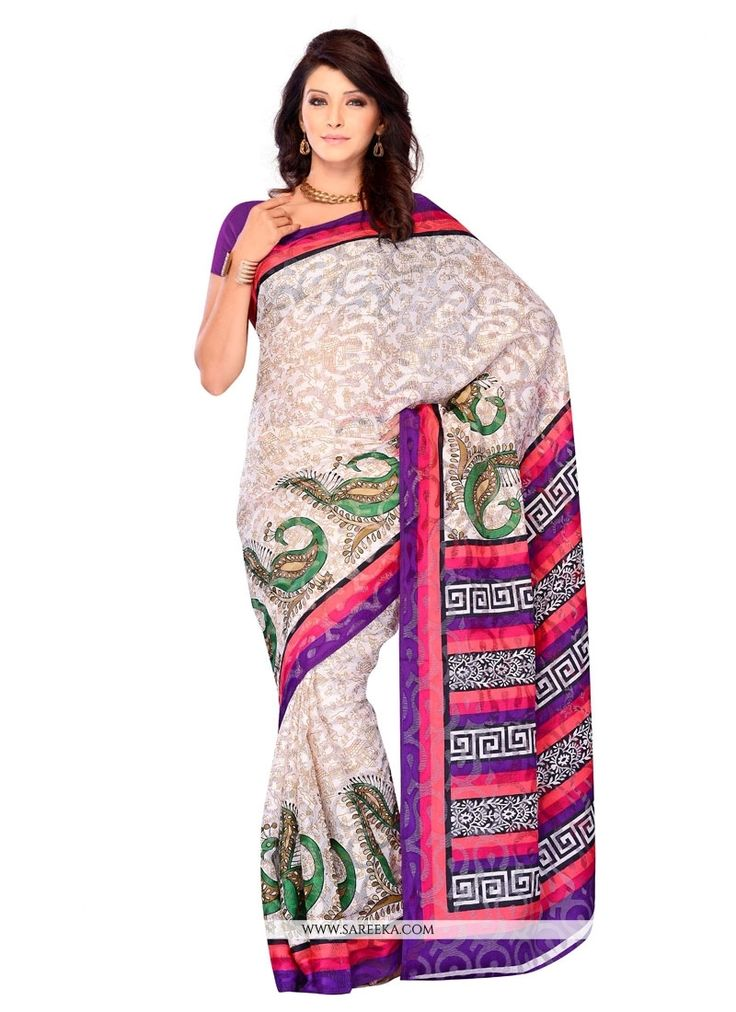 Designed with simplicity with a touch of soberness in its work makes a masterpiece. Be your diverse style and design diva with this multi colour brasso casual saree. The amazing attire creates a drama...