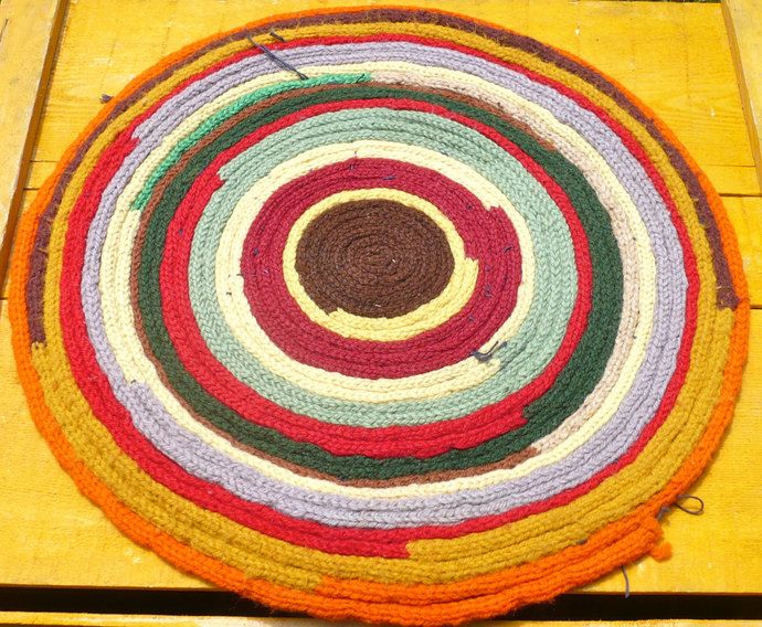 Penny Rug, Red, Folk Art, Chair Mat, Round Mat, Americana, Table Topper, Placemat, Penny Mat, Chair Pad, Primitive, Rustic, Colorful, Boho by CasaKarmaDecor, $18.68 USD