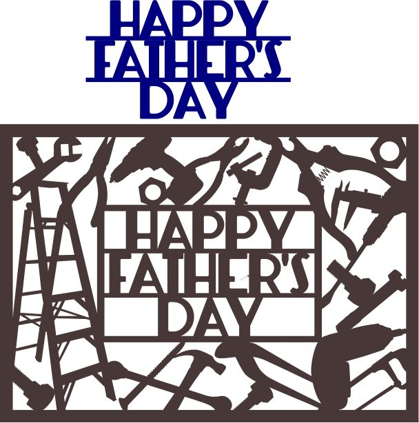 Free SVG & DFX Download - Happy Father's Day Card by Kabram Krafts...