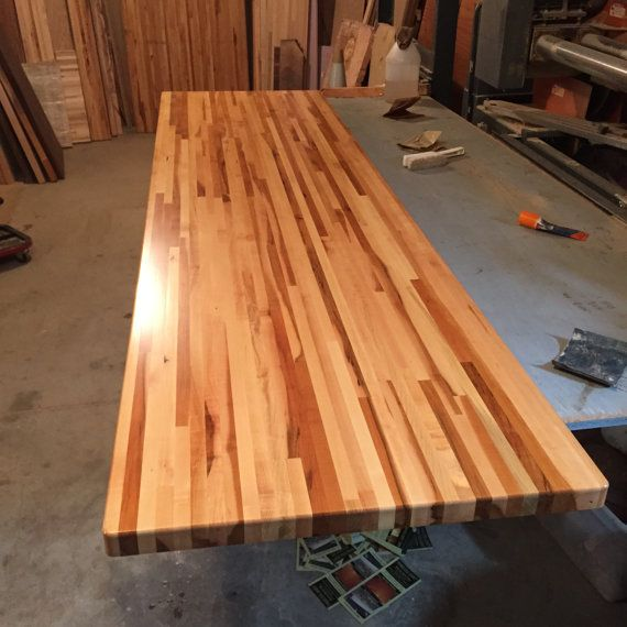 forever joint rock hard maple butcher block top custom sizes available wooden kitchen island top