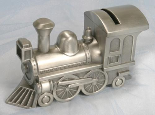 100 best baby boy fashion images on pinterest baby boy fashion antique pewter personalized train keepsake bank http247babygifts negle Gallery