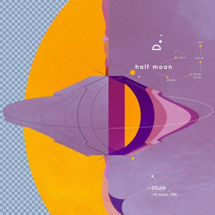 [앨범 일러스트] DEAN_130 mood : TRBL - 일러스트레이션 · 타이포그래피, 일러스트레이션, 타이포그래피, 그래픽 디자인, 일러스트레이션