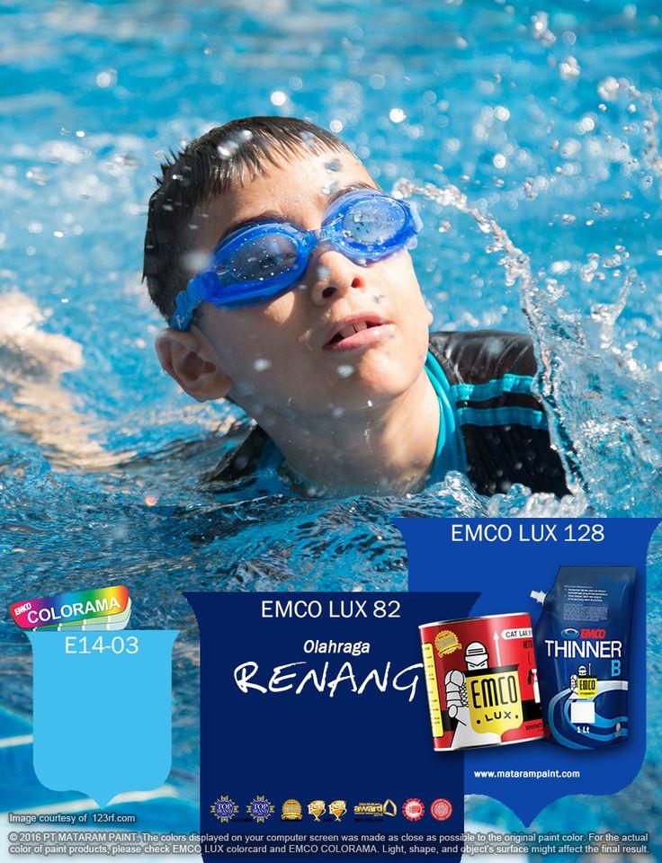 Kawan EMCO, olah raga renang sangat baik untuk anak-anak hingga orang tua. Membiasakan berolahraga renang secara teratur tentu saja dapat membuat badan Anda lebih sehat dan juga menghilangkan stress serta kejenuhan aktifitas sehari-hari. Terinspirasi dari semangat para olah ragawan renang, mari percantik karya-karya Anda dengan aneka warna yang menunjang semangat kita denga warna EMCO LUX 82, EMCO LUX 138, dan EMCO COLORAM E14-03 dari palet EMCO. www.matarampaint.com