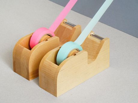 Wooden Tape Holder - there's something about these that is just so pleasingly solid
