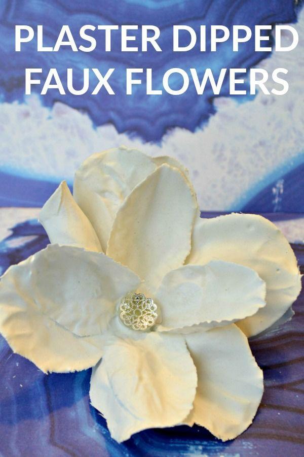 Bricolage Plâtre Dipped Dollar Store Fleurs